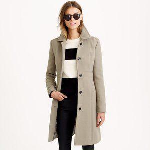 J Crew Classic Lady Day Coat Italian Double Cloth